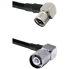 Mini-UHF Right Angle Male Connector On LMR-240UF UltraFlex To SC Right Angle Male Connector Coaxial