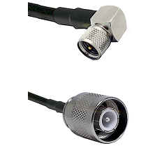 Mini-UHF Right Angle Male Connector On LMR-240UF UltraFlex To SC Male Connector Coaxial Cable Assemb