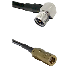 Mini-UHF Right Angle Male on LMR240 Ultra Flex to SLB Female Cable Assembly