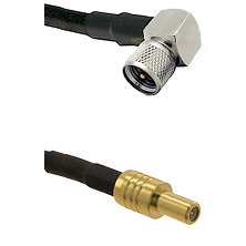 Mini-UHF Right Angle Male on LMR240 Ultra Flex to SLB Male Cable Assembly