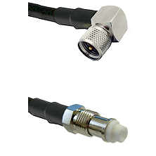Mini-UHF Right Angle Male on RG142 to FME Female Cable Assembly