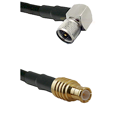 Mini-UHF Right Angle Male on RG142 to MCX Male Cable Assembly