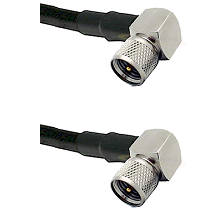 Mini-UHF Right Angle Male on RG188 to Mini-UHF Right Angle Male Cable Assembly