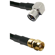 Mini-UHF Right Angle Male on RG400 to SMC Female Cable Assembly