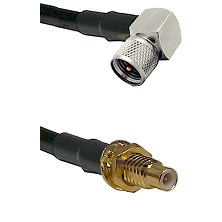 Mini-UHF Right Angle Male on RG400 to SMC Male Bulkhead Cable Assembly