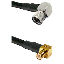 Mini-UHF Right Angle Male on RG58C/U to MCX Right Angle Male Cable Assembly