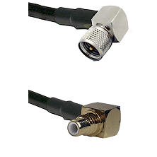 Mini-UHF Right Angle Male on RG58C/U to SMC Right Angle Male Cable Assembly