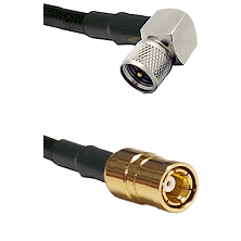 Mini-UHF Right Angle Male on RG58C/U to SMB Female Cable Assembly