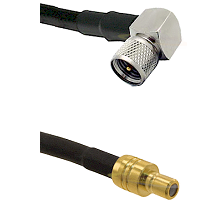 Mini-UHF Right Angle Male on RG58C/U to SMB Male Cable Assembly