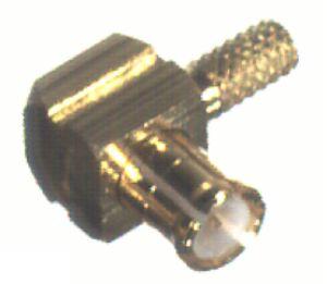 RMX-8010-1B1 RF Industries MCX, MALE Right Angle CRIMP Plug, Gold,Gold,T; FOR CBL GRP B1