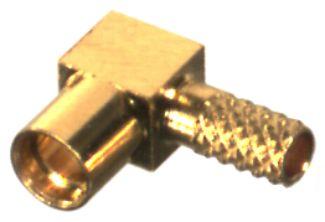 RMX-9060-1B1 RF Industries MMCX,FEM RIGHT ANGLE CRIMP JACK, Gold,Gold,T; FOR RD-174/U & RD-316/U, CB