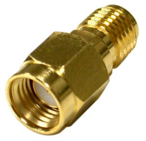 RP-3405-1 RF Industries ADAPTER, REVERSE POLARITY SMA MALE TO SMA FEMALE; Gold,Gold,T