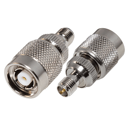 RP-3472 RF Industries ADAPTER, REVERSE SMA FEMALE TO REV TNC MALE; Nickel,Gold,T