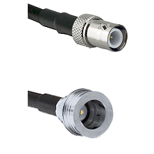 BNC Reverse Polarity Female on LMR100 to QN Male Cable Assembly