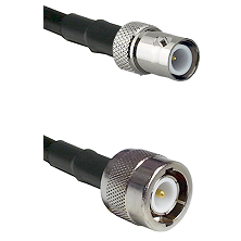 BNC Reverse Polarity Female Connector On LMR-240UF UltraFlex To C Male Connector Coaxial Cable Assem