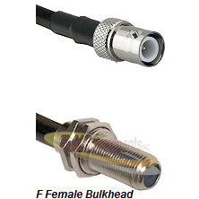 BNC Reverse Polarity Female Connector On LMR-240UF UltraFlex To F Female Bulkhead Connector Coaxial