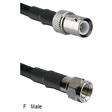 BNC Reverse Polarity Female Connector On LMR-240UF UltraFlex To F Male Connector Coaxial Cable Assem