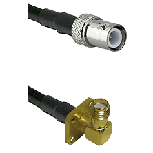 BNC Reverse Polarity Female on LMR240 Ultra Flex to SMA 4 Hole Right Angle Female Coaxial Cable Asse