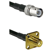 BNC Reverse Polarity Female on LMR240 Ultra Flex to SMA 4 Hole Female Cable Assembly