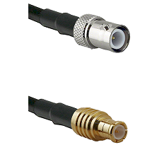 BNC Reverse Polarity Female on RG142 to MCX Male Cable Assembly