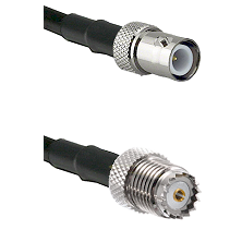 BNC Reverse Polarity Female on RG142 to Mini-UHF Female Cable Assembly