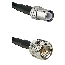 BNC Reverse Polarity Female on RG142 to Mini-UHF Male Cable Assembly