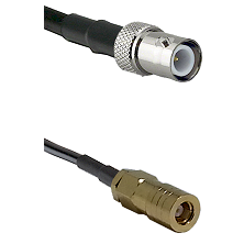 BNC Reverse Polarity Female on RG400 to SLB Female Cable Assembly