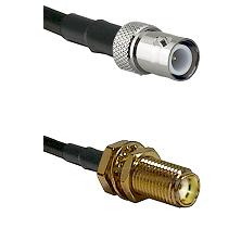 BNC Reverse Polarity Female on RG400 to SMA Female Bulkhead Cable Assembly