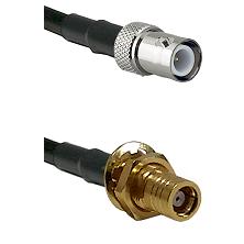 BNC Reverse Polarity Female on RG400 to SMB Female Bulkhead Cable Assembly