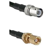 BNC Reverse Polarity Female on RG400 to SMC Female Bulkhead Cable Assembly