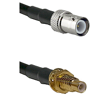 BNC Reverse Polarity Female on RG400 to SMC Male Bulkhead Cable Assembly