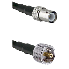 BNC Reverse Polarity Female on RG400 to UHF Male Cable Assembly