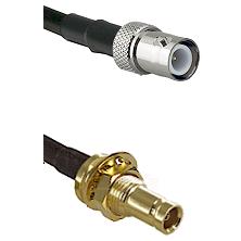 BNC Reverse Polarity Female on RG58C/U to 10/23 Female Bulkhead Cable Assembly