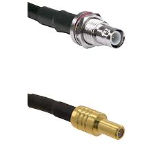 BNC Reverse Polarity Female Bulkhead on LMR200 UltraFlex to SLB Male Cable Assembly