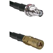 BNC Reverse Polarity Female Bulkhead on LMR200 UltraFlex to SSMB Female Cable Assembly