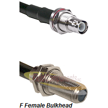 BNC Reverse Polarity Female Bulkhead Connector On LMR-240UF UltraFlex To F Female Bulkhead Connector