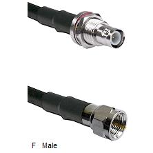 BNC Reverse Polarity Female Bulkhead Connector On LMR-240UF UltraFlex To F Male Connector Coaxial Ca