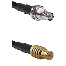 BNC Reverse Polarity Female Bulkhead on RG142 to MCX Male Cable Assembly