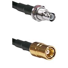 BNC Reverse Polarity Female Bulkhead on RG58C/U to SMB Female Cable Assembly