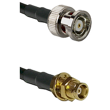 BNC Reverse Polarity Male on LMR100 to MCX Female Bulkhead Cable Assembly
