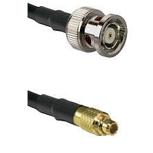 BNC Reverse Polarity Male on LMR100 to MMCX Male Cable Assembly