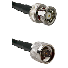 BNC Reverse Polarity Male on LMR100 to N Male Cable Assembly
