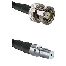 BNC Reverse Polarity Male on LMR100 to QMA Female Cable Assembly