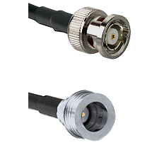 BNC Reverse Polarity Male on LMR100 to QN Male Cable Assembly