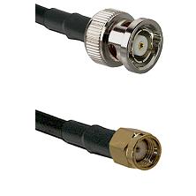 BNC Reverse Polarity Male on LMR-195-UF UltraFlex to SMA Reverse Polarity Male Coaxial Cable Assembl