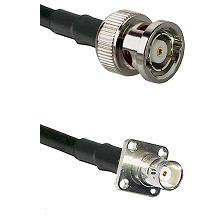 BNC Reverse Polarity Male on LMR200 UltraFlex to BNC 4 Hole Female Cable Assembly