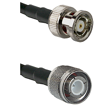 BNC Reverse Polarity Male Connector On LMR-240 To HN Male Connector Cable Assembly