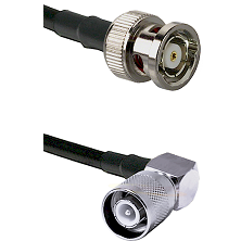 BNC Reverse Polarity Male Connector On LMR-240UF UltraFlex To SC Right Angle Male Connector Coaxial