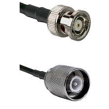 BNC Reverse Polarity Male Connector On LMR-240UF UltraFlex To SC Male Connector Coaxial Cable Assemb