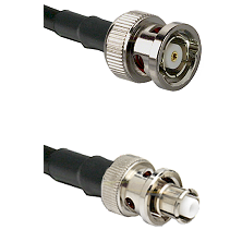 BNC Reverse Polarity Male Connector On LMR-240UF UltraFlex To SHV Plug Connector Coaxial Cable Assem